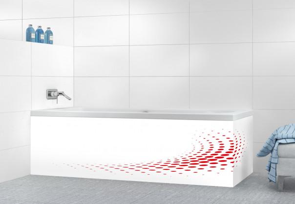 Panneau tablier de bain Nuage de points couleur rouge vif