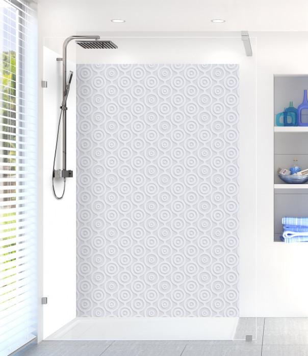Panneau de douche Papier peint rétro couleur gris clair