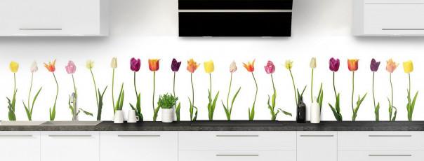 Crédence de cuisine Tulipes panoramique