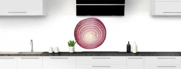 Crédence de cuisine Oignon rouge panoramique