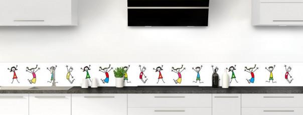 Crédence de cuisine illustration Enfants  dosseret