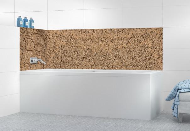 Panneau de bain Mur en terre