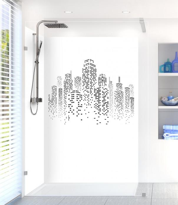 Panneau de douche Gratte-ciels couleur blanc