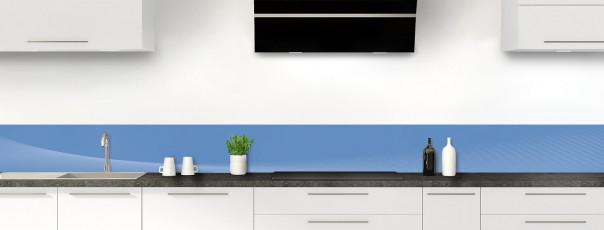 Crédence de cuisine Ombre et lumière couleur bleu lavande dosseret