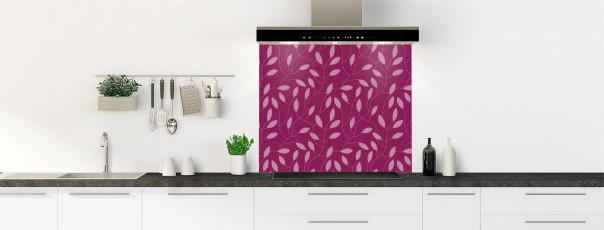 Crédence de cuisine Rideau de feuilles couleur prune fond de hotte