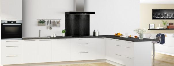 Crédence de cuisine Pointillés couleur noir fond de hotte en perspective