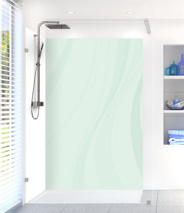 Panneau de douche Voilage couleur vert eau motif inversé