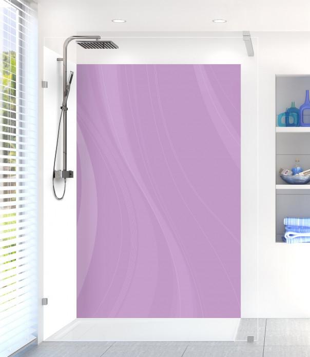 Panneau de douche Voilage couleur parme