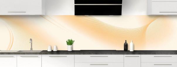 Crédence de cuisine Volute couleur magnolia panoramique motif inversé