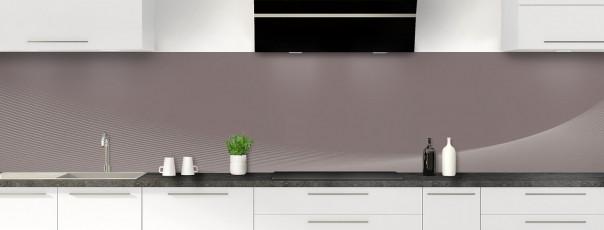 Crédence de cuisine Ombre et lumière couleur taupe panoramique motif inversé