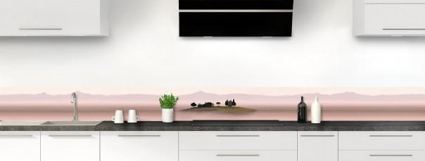Crédence de cuisine Brume rosée dosseret