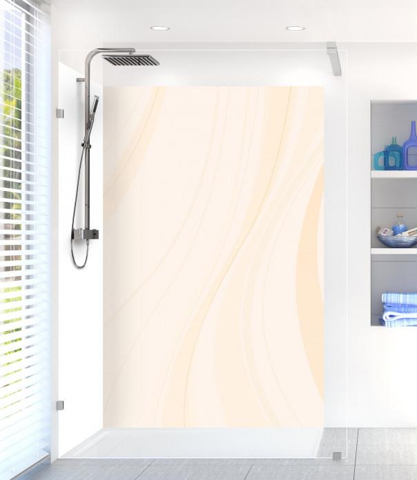Panneau de douche Voilage couleur magnolia motif inversé