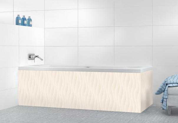 Panneau tablier de bain Ondes couleur magnolia