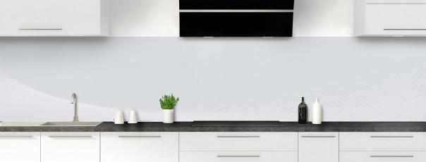 Crédence de cuisine Ombre et lumière couleur gris clair panoramique
