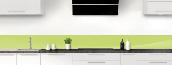 Crédence de cuisine Ombre et lumière couleur vert olive dosseret motif inversé