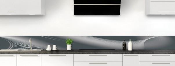 Crédence de cuisine Volute couleur gris carbone dosseret motif inversé