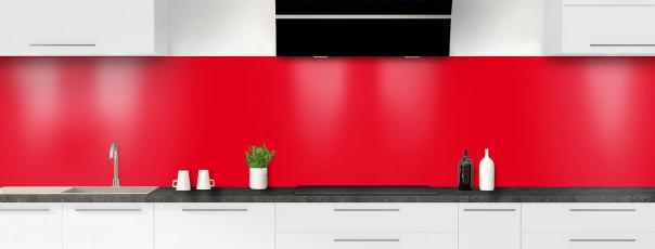 Crédence de cuisine Rouge vif panoramique