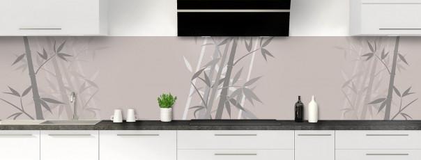 Crédence de cuisine Bambou zen couleur argile panoramique