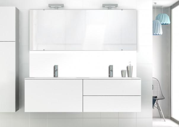 Panneau vasque Blanc Glossy