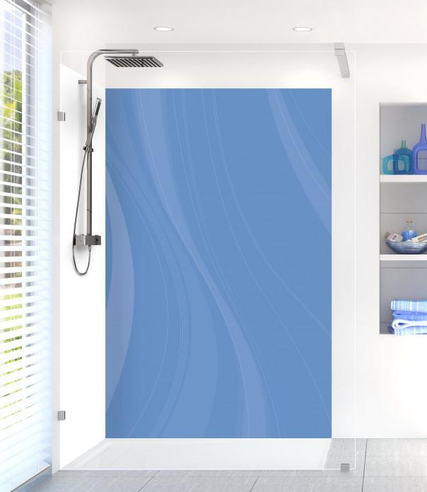 Panneau de douche Voilage couleur bleu lavande
