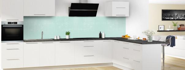 Crédence de cuisine Ardoise rayée couleur vert pastel panoramique en perspective