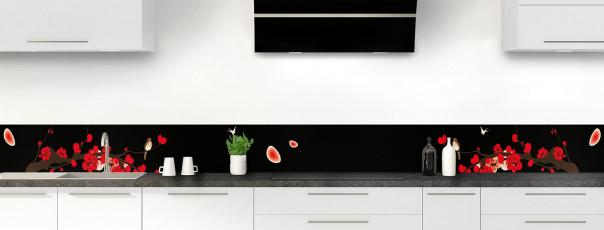 Crédence de cuisine Cerisier japonnais couleur noir dosseret