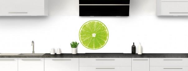 Crédence de cuisine Citron vert panoramique