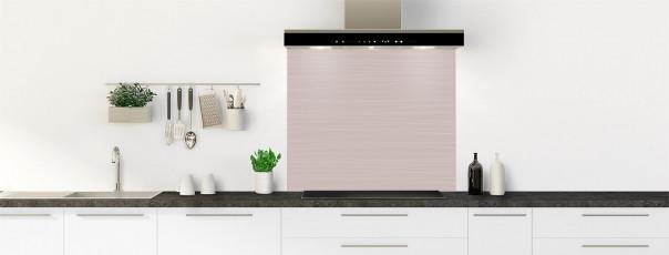 Crédence de cuisine Lignes horizontales couleur argile fond de hotte