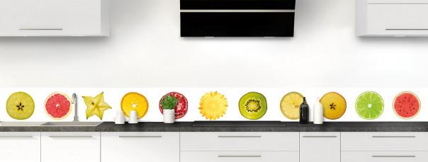 Crédence de cuisine Tranches de fruits dosseret