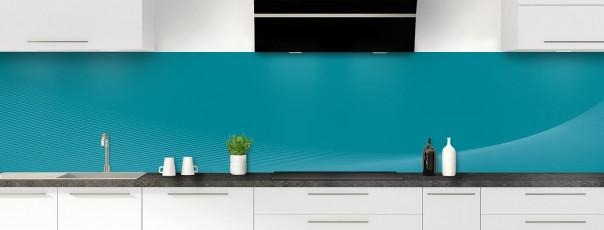 Crédence de cuisine Ombre et lumière couleur bleu canard panoramique motif inversé