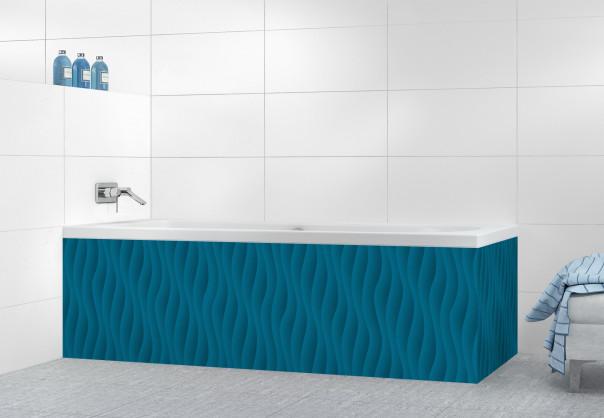Panneau tablier de bain Ondes couleur bleu baltic