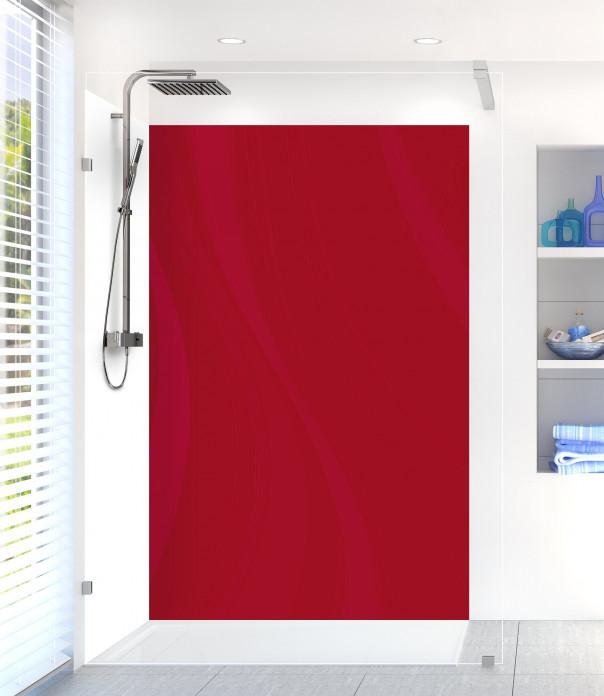 Panneau de douche Voilage couleur rouge carmin