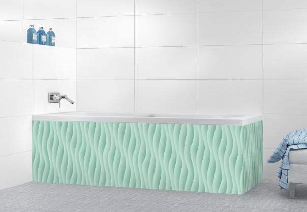 Panneau tablier de bain Ondes couleur vert pastel