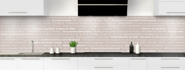 Crédence de cuisine Recettes de cuisine couleur argile panoramique