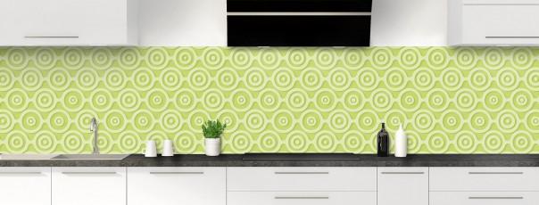 Crédence de cuisine Papier peint rétro couleur vert olive panoramique
