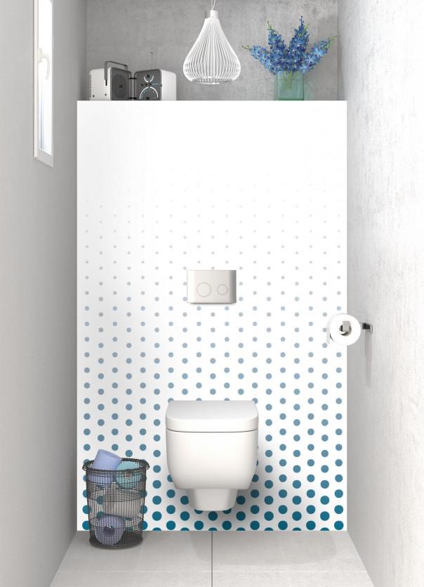 Panneau WC Pluie de points couleur bleu baltic