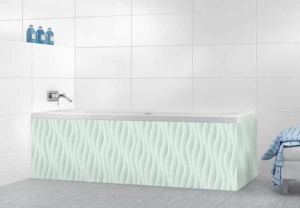 Panneau tablier de bain Ondes couleur vert eau