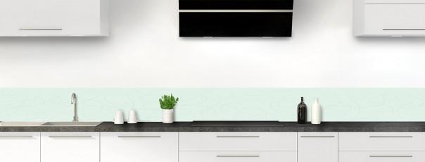 Crédence de cuisine Gribouillis couleur vert eau dosseret