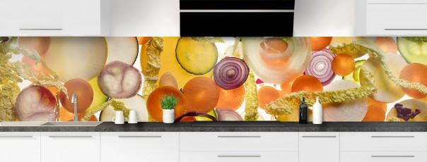 Crédence de cuisine Mix légumes panoramique