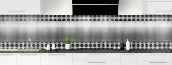 Crédence de cuisine Plaque inox perforée panoramique