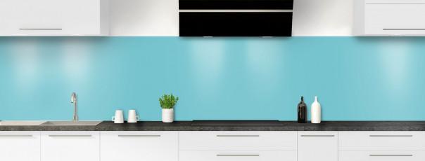 Crédence de cuisine Bleu lagon panoramique