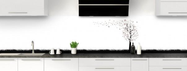 Crédence de cuisine Arbre d'amour couleur argile panoramique motif inversé