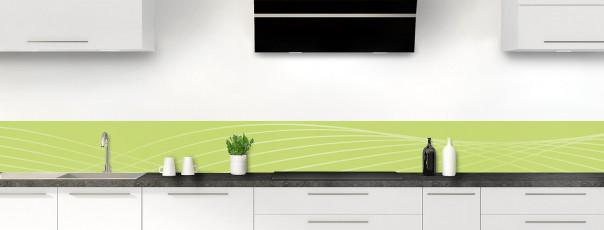 Crédence de cuisine Courbes couleur vert olive dosseret