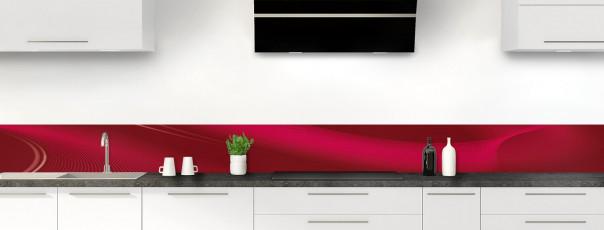 Crédence de cuisine Volute couleur rouge pourpre dosseret motif inversé