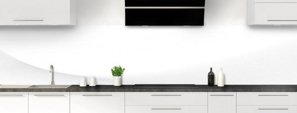 Crédence de cuisine Ombre et lumière couleur blanc panoramique