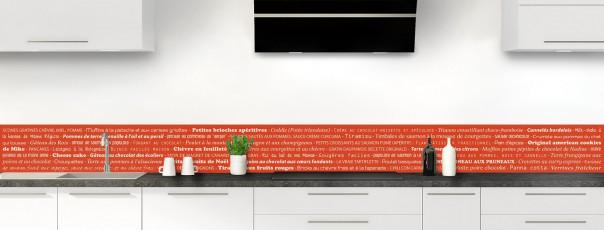 Crédence de cuisine Recettes de cuisine couleur rouge brique dosseret