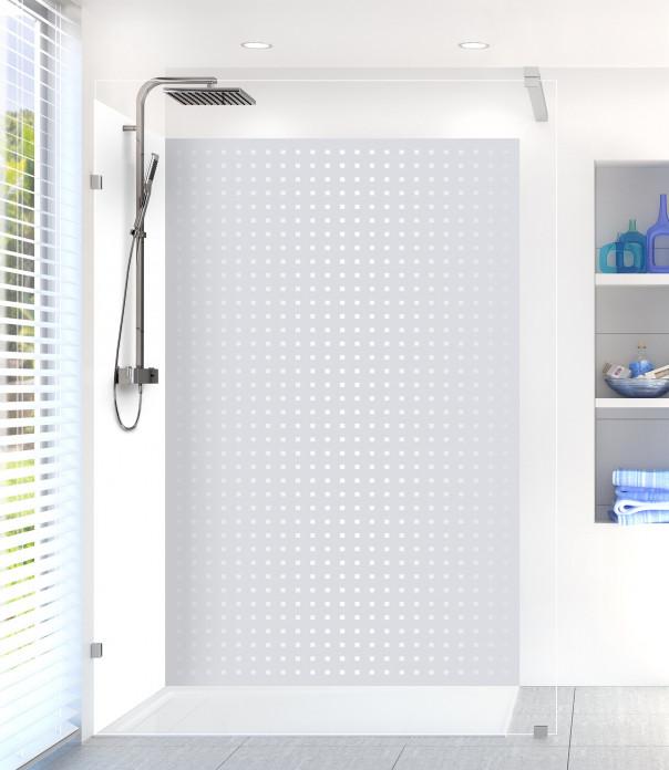 Panneau de douche Petits carrés couleur gris clair
