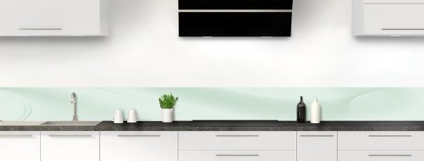 Crédence de cuisine Volute couleur vert eau dosseret motif inversé