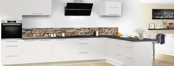 Crédence de cuisine Briques de roche dosseret en perspective