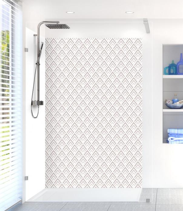 Panneau de douche Ecailles  couleur argile